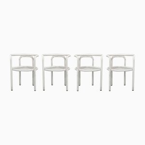 White Locus Solus Chairs by Gae Aulenti for Poltronova, 1960s, Set of 4