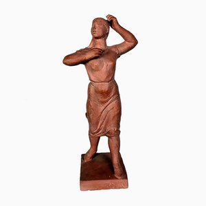 Sculpture de Femme en Terracotta par Olcsai-Kiss, 1960s