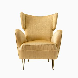 Yellow Armchair from Isa Bergamo, 1950s