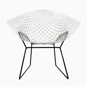Black & White Diamond Chair by Harry Bertoia for Knoll, 1960s