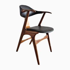 Vintage Cow Horn Chair von Louis Van Teeffelen für AWA, 1950er