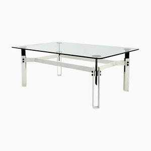Postmodern Black & White Coffee Table in Metal, 1980s