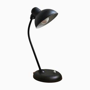 Industrielle deutsche Bauhaus 6556 Schreibtischlampe aus schwarzem Stahl von Christian Dell für Kaiser Idell