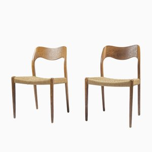 Modell 71 Esszimmerstühle von Niels Otto Møller, 1960er, 2er Set