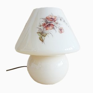 Mushroom Tischlampe in Beige mit Blumendekor