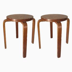 Tabourets E60 par Alvar Aalto, 1960s, Set de 2