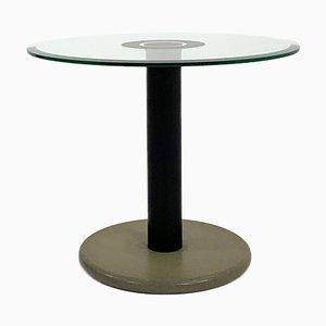 Table d'Appoint Postmoderne en Granite et Verre, 1980s