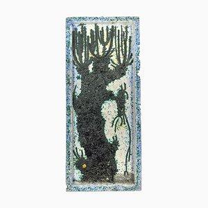 Plaque Murale Chamotte en Céramique par M. Kiss, 1970s