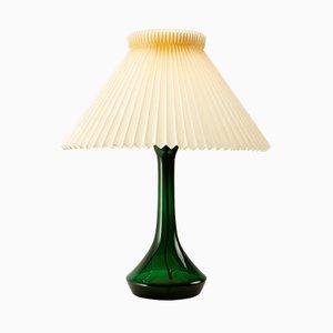 Grüne Glas Tischlampe von Lisbeth Brams für Kastrup
