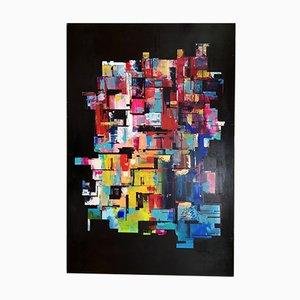 Grand Tableau Expressionniste Abstrait Awakening de Karpati, 2020