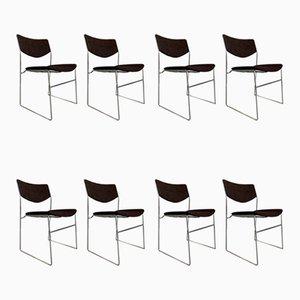Chaises, 1970s, Set de 8