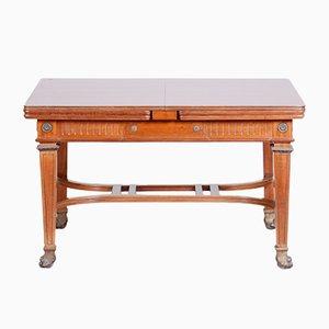 Ausziehbarer französischer Empire Tisch aus Mahagoni, 19. Jh