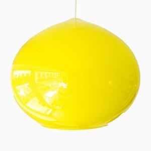 Lampe à Suspension Onion Jaune par Alessandro Pianon pour Vistosi Murano, 1960