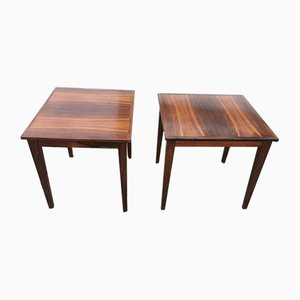Rosewood Side Tables, Set of 2