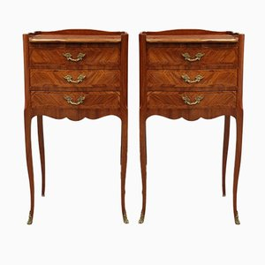 Tables de Chevet Napoléon III Antiques, Set de 2