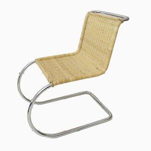 Chaise d'Appoint MR10 en Rotin par Mies Van Der Rohe pour Knoll