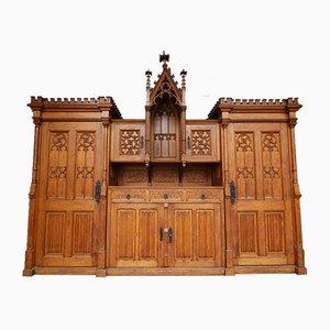 Neonogotic Sacristy Cabinet, Early 20th Century