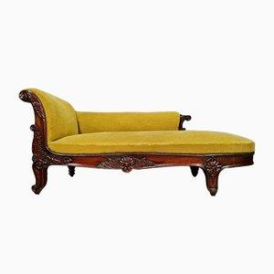 Napoleon III Mahogany Meridian Bench