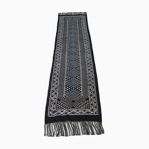 Handgewebter Vintage Berber Läufer Kilim Teppich