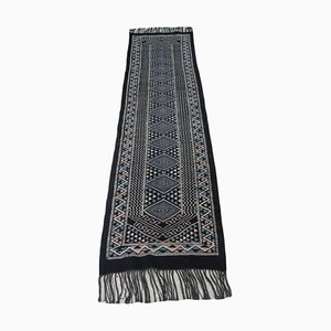 Vintage Handwoven Berber Runner Kilim Rug