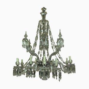 Neoklassizistischer Kronleuchter aus Kristallglas & geschliffenem Glas von F&C Osler