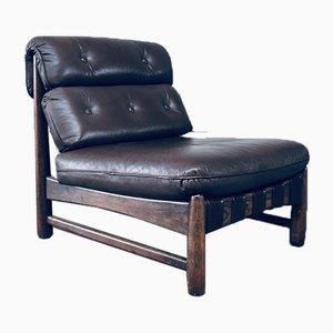 Mid-Century Modern Brazilian Leather Lounge Chair, 1970s