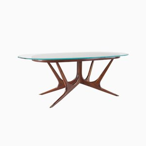 Sculptural Italian Dining Table, 1940s