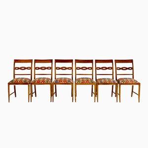 Chaises de Salon Sculpturales par Paolo Buffa, Set de 6
