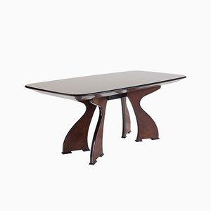 Tavolo da pranzo moderno scultoreo in palissandro, Italia