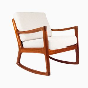 Senator Teak Rocking Chair by Ole Wanscher for Cado
