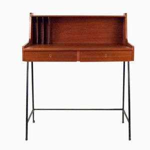 Small Danish Mid-Century Teak Desk
