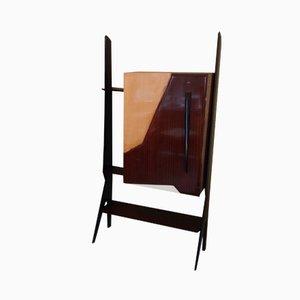 Mueble bar italiano de palisandro y abedul