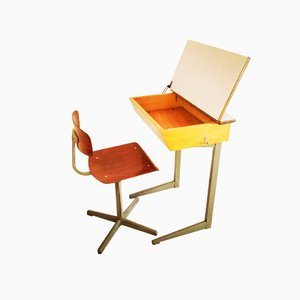 Children Desk and Chair by Friso Kramer, 1950s