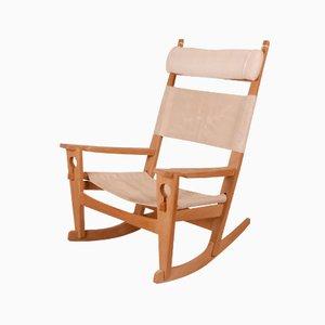 Rocking Chair, Modèle GE-673, par Hans J. Wegner
