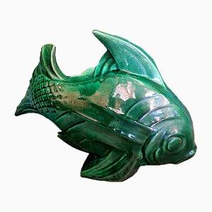 Französische Art Deco Fisch Skulptur von Lejan