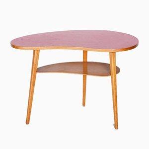 Petite Table Mid-Century en Hêtre, République Tchèque, 1950s