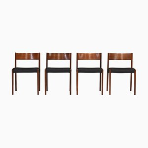 Dining Chairs by Poul Cadovius for Cado, Denmark, 1959, Set of 4