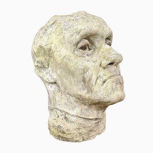 Großer Gipskopf nach Auguste Rodin