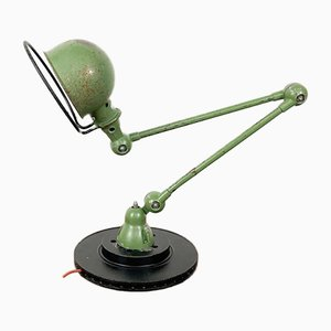 Industrielle Vintage 2-Arm Schreibtischlampe von Jean Louis Domecq für Jielde