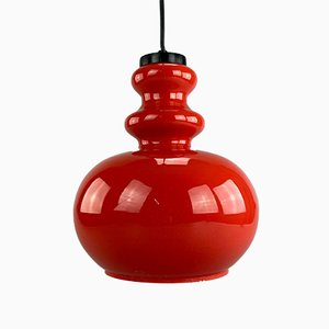 Mid-Century Space Age Pendant Lamp in Glass from VEB