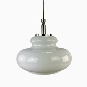 Mid-Century Space Age Pendant Lamp in Glass