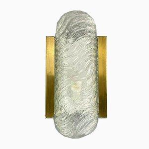 Mid-Century Space Age Wandlampe aus Eisglas
