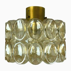 Mid-Century Space Age Glass Ceiling Lamp from Limburg
