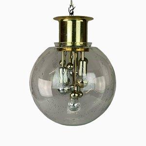 Große Mid-Century Space Age Ball Deckenlampe aus Glas von Doria