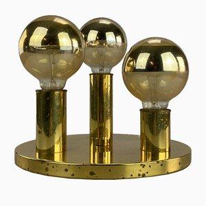 Mid-Century Brass Ceiling Lamp from Schmitz
