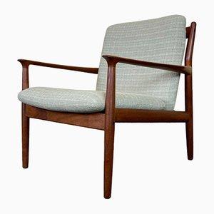 Mid-Century Danish Teak Easy Chair by Grete Jalk for Glostrup