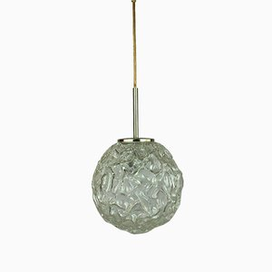 Mid-Century Space Age Globe Ceiling Lamp in Glass from Hillebrand