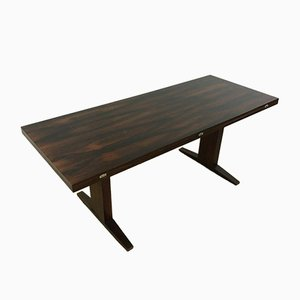 Mid-Century Mahogany Coffee or Dining Table by Wilhelm Renz, Denmark