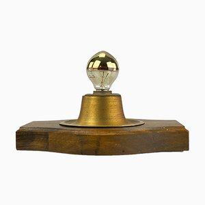 Mid-Century Wandlampe aus Messing