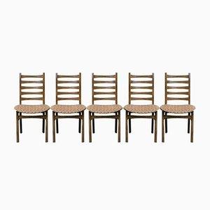 Chaises de Salle à Manger Mid-Century, Set de 5